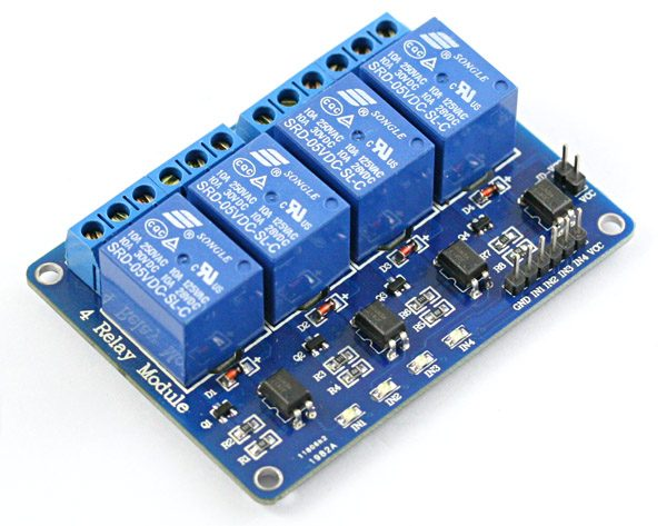 4 Channel Realy Board for Raspberry Pi